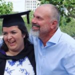 graduation, laugther, family, daughter, father