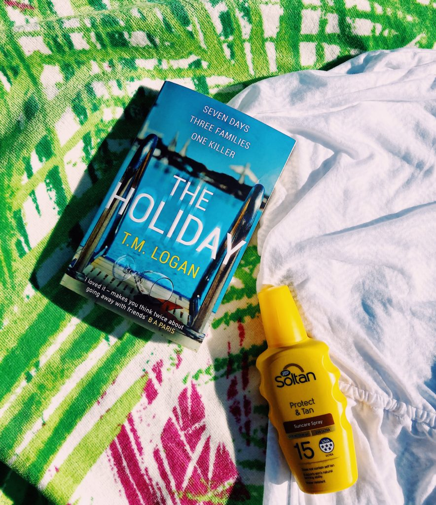 book, suntan, soltan, suncream, holiday, T M Logan
